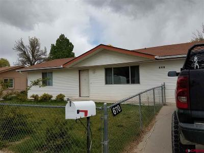 Delta CO Single Family Home For Sale: $167,500