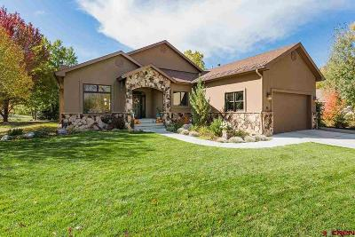 Durango CO Single Family Home For Sale: $818,000