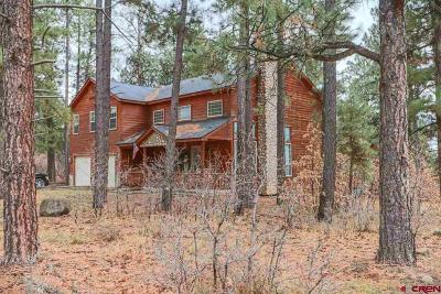 Pagosa Springs Single Family Home For Sale: 32 Woodland Drive