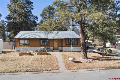 Durango CO Single Family Home For Sale: $269,000