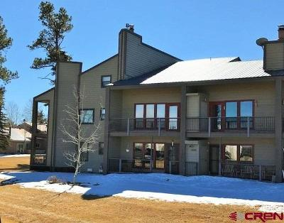 Pagosa Springs Condo/Townhouse For Sale: 164 Valley View Drive #3206