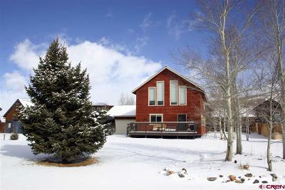 Crested Butte CO Single Family Home For Sale: $599,000