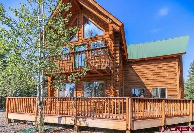 Pagosa Springs Single Family Home For Sale: 217 Antler Court