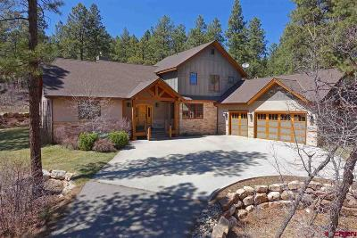 Durango Single Family Home For Sale: 601 Monarch Crest Trail