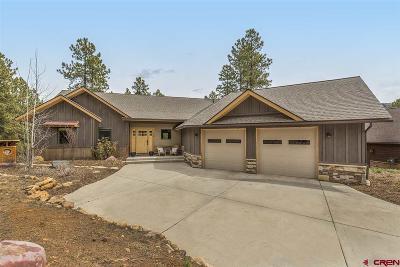Durango Single Family Home UC/Contingent/Call LB: 160 Clear Creek Loop