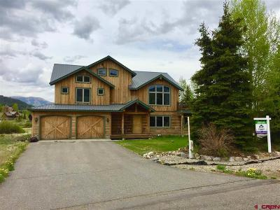 Gunnison County Single Family Home For Sale: 52 Slate View Lane