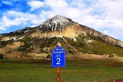 Crested Butte CO Residential Lots & Land For Sale: $800,000