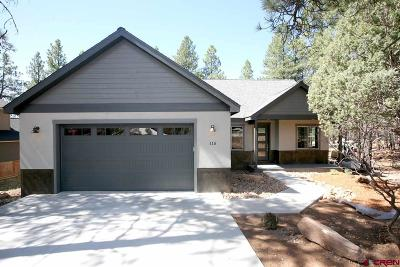 La Plata County Single Family Home UC/Contingent/Call LB: 115 Big Bend Court