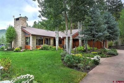 Durango CO Single Family Home For Sale: $1,200,000