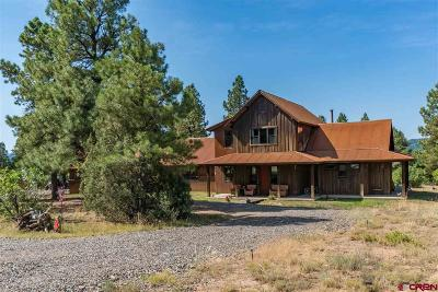Pagosa Springs Single Family Home For Sale: 3361 Meadows Drive
