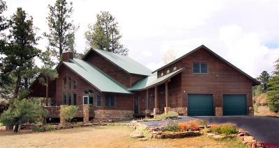 Pagosa Springs Single Family Home For Sale: 104 Trappers Drive