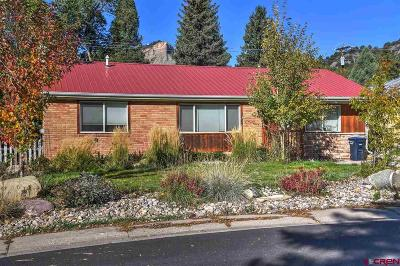 Durango CO Single Family Home For Sale: $492,500