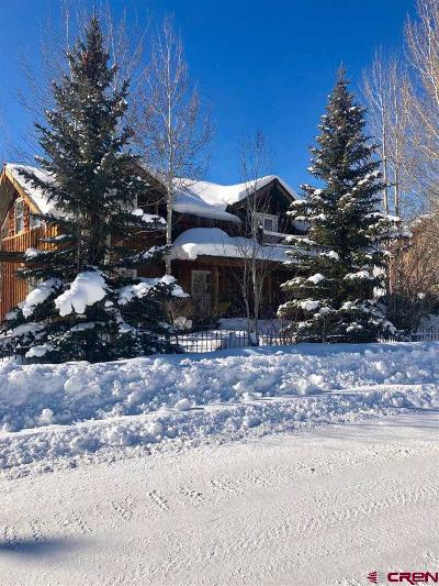 Crested Butte Single Family Home For Sale: 207 Cascadilla Street