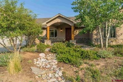 Durango Single Family Home For Sale: 1316 Durango Ridge Road