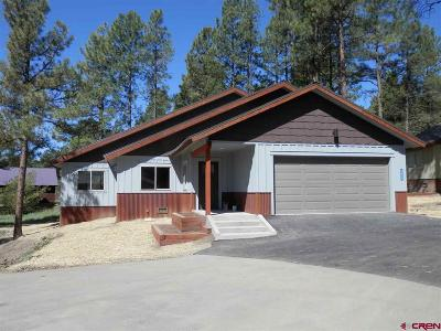 Pagosa Springs Single Family Home For Sale: 282 Aspenglow Boulevard #D