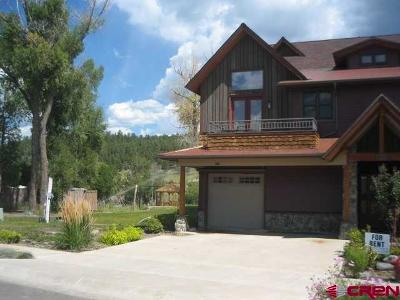 Pagosa Springs Condo/Townhouse For Sale: 502 S 5th St #C-3