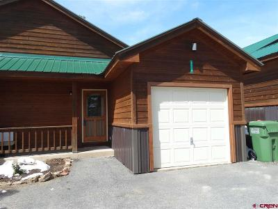 Pagosa Springs Condo/Townhouse For Sale: 311 E Golf #D