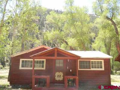 Creede Single Family Home For Sale: 13046 Hwy 149 Cabin #22 #Cabin# 2