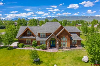Gunnison Single Family Home For Sale: 386 Meadow Lark Trail