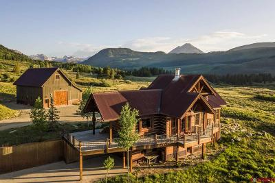 Crested Butte Single Family Home For Sale: 1482 County Road 4 (Peanut Lake)