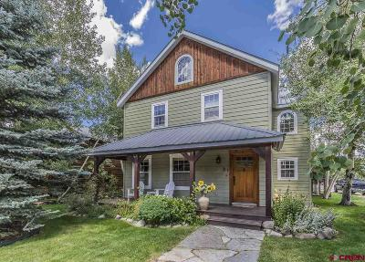 Crested Butte Single Family Home For Sale: 31 Teocalli Avenue
