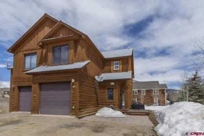 Crested Butte Condo/Townhouse UC/Contingent/Call LB: 41 Endner Place #B