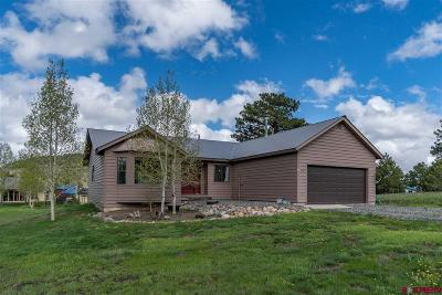 Pagosa Springs Single Family Home For Sale: 114 Waxwing Place