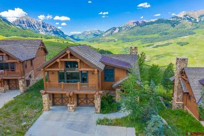 Mt. Crested Butte Single Family Home For Sale: 17 Wildhorse Trail