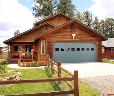 Pagosa Springs Single Family Home For Sale: 509 Morro Circle