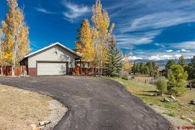 Pagosa Springs Single Family Home For Sale: 605 Kelseya Circle