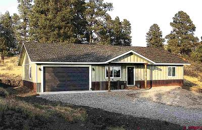 Pagosa Springs Single Family Home For Sale: 109 N Pinescent Court