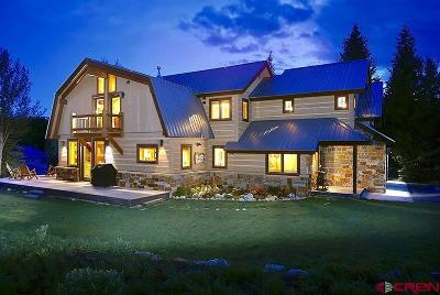 Crested Butte Single Family Home For Sale: 98 Slate Lane