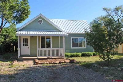 Mancos Single Family Home For Sale: 636 Riverside Avenue