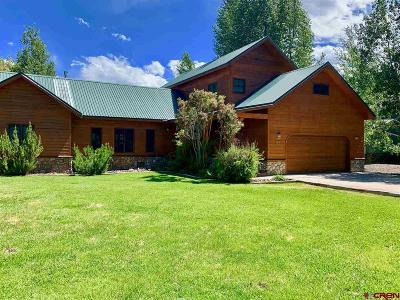 Gunnison Single Family Home For Sale: 468 Tomichi Trail