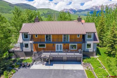 Mt. Crested Butte Single Family Home For Auction: 27 Belleview Drive
