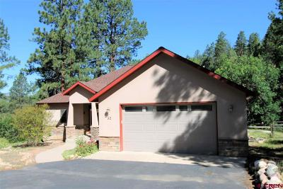 Durango Single Family Home NEW: 52 Ute Pass West Rd