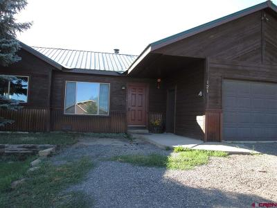 Pagosa Springs Single Family Home For Sale: 121 Steamboat Drive