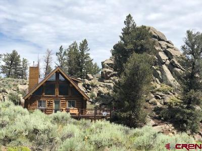 Gunnison Single Family Home For Sale: 26 Gold Basin Ranch