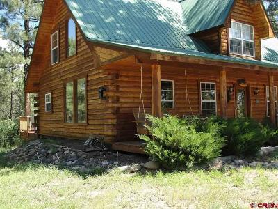 Pagosa Springs Single Family Home For Sale: 8 Heather Pl