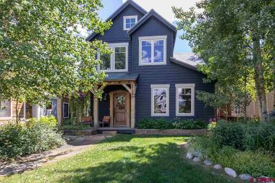Crested Butte CO Single Family Home For Sale: $2,595,000
