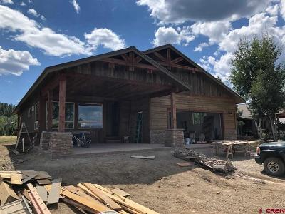 Pagosa Springs Single Family Home For Sale: 349 Hatcher Circle