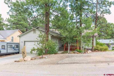 Durango Single Family Home For Sale: 184 Canyon Creek Trail