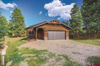 Pagosa Springs Single Family Home For Sale: 27 N Birdie