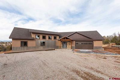 Durango Single Family Home For Sale: 114 Canyon Springs Ranch Rd.