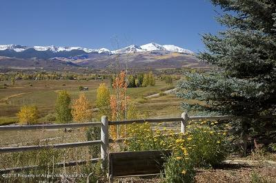 Snowmass Single Family Home For Sale: 6890 E Sopris Creek Road