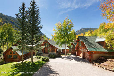Aspen Single Family Home For Sale: 60 Bulkley Drive
