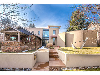 Boulder CO Single Family Home For Sale: $3,550,000
