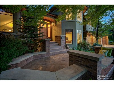 Boulder CO Single Family Home For Sale: $2,137,500
