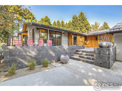 Boulder CO Single Family Home For Sale: $3,200,000