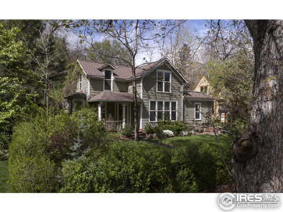 Boulder CO Single Family Home For Sale: $2,650,000